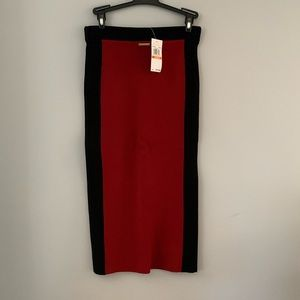 Michael Kors contrast stripe pencil skirt